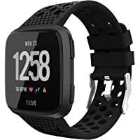 Adepoy Replacement for Fitbit Versa Bands, Breathable Sport Watch Straps Compatible with Fitbit Versa/Versa Lite Edition/Versa Special Edition/Versa 2 for Women Men