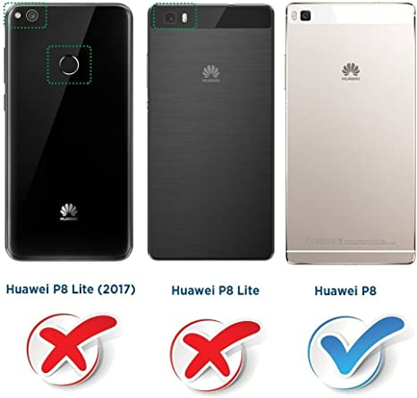 COODIO Funda Huawei P8 con Tapa, Funda Movil Huawei P8, Funda ...