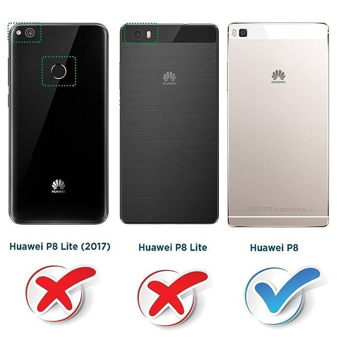 MOBESV Funda para Huawei P8, Funda Libro Huawei P8, Funda Móvil ...