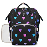 Diaper Backpack Baby Nappy Bag - Travel&Outdoor Organizer Water-Resistant Multi-Function Maternity Bag for Mon Daddy (Black)