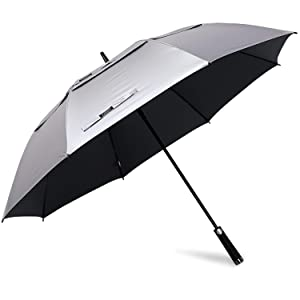 G4Free 62 68inch UV Protection Golf Umbrella Auto Open Vented Double Canopy Oversize Extra Large Windproof Sun Rain Umbrellas