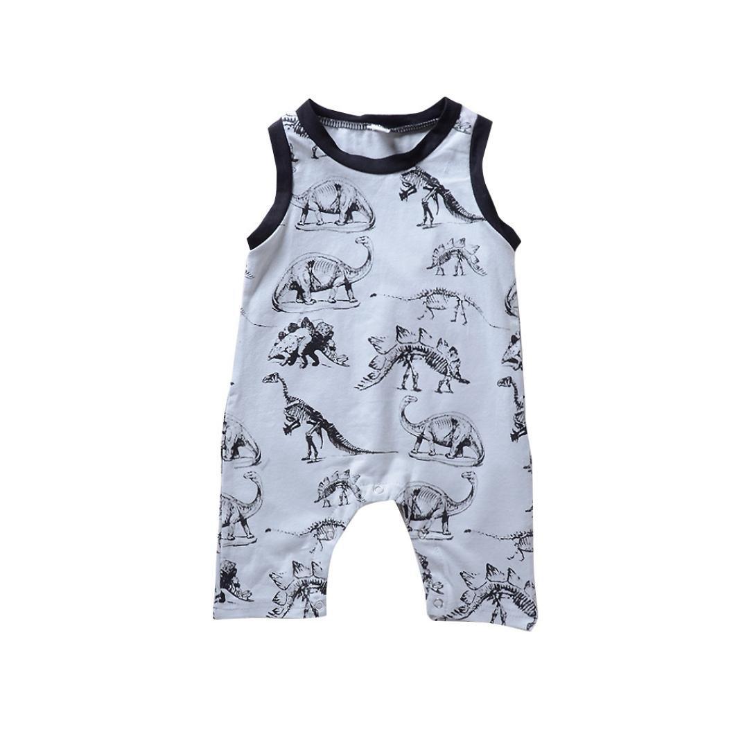zolimx_bebé Romper Bebé Verano, Recién Nacido Niño Niña Chico Dinosaurio Tipo Mameluco Mono