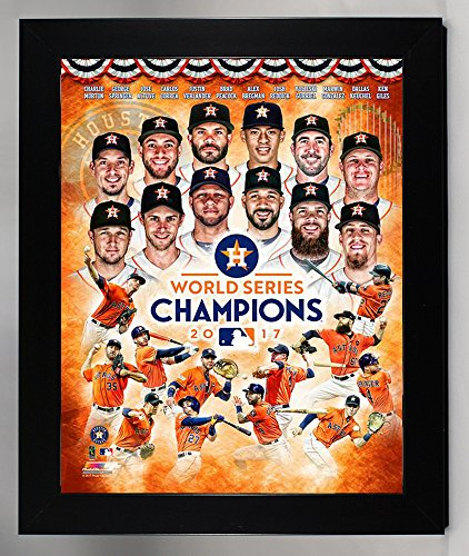 Framed Houston Astros Jose Altuve & Carlos Correa & Team College. 2017 World Series Champions 8x10 Photograph Picture.