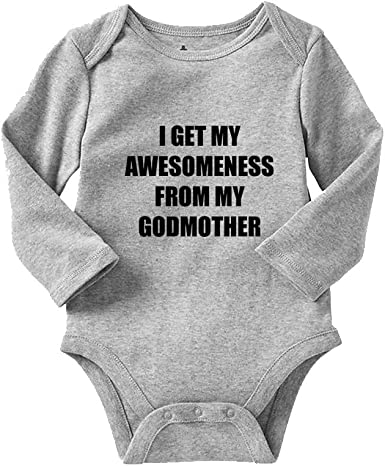 I Get My Good Looks From My Godparents Cotton Baby Bodysuit One Piece