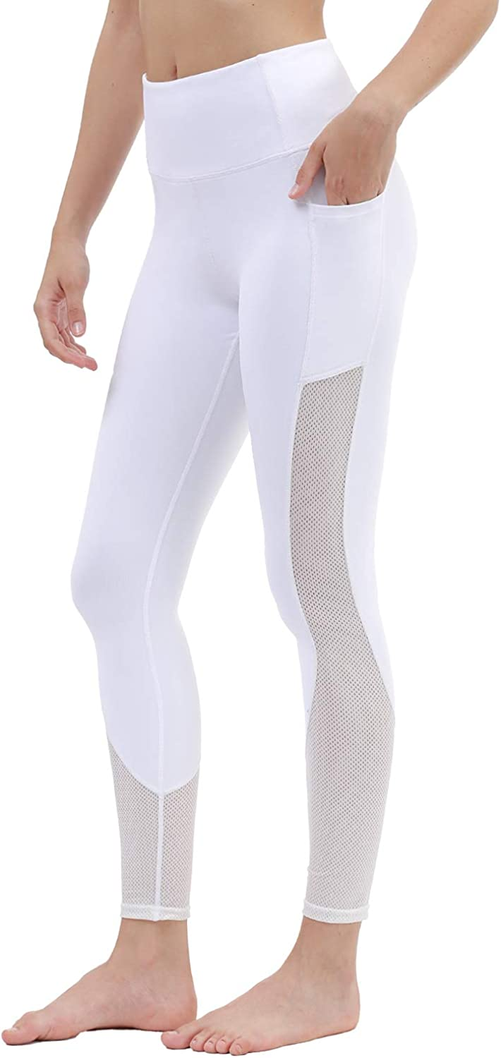 TYUIO Yoga Pants for Women High Waisted Workout Running Exercise Leggings with Pockets