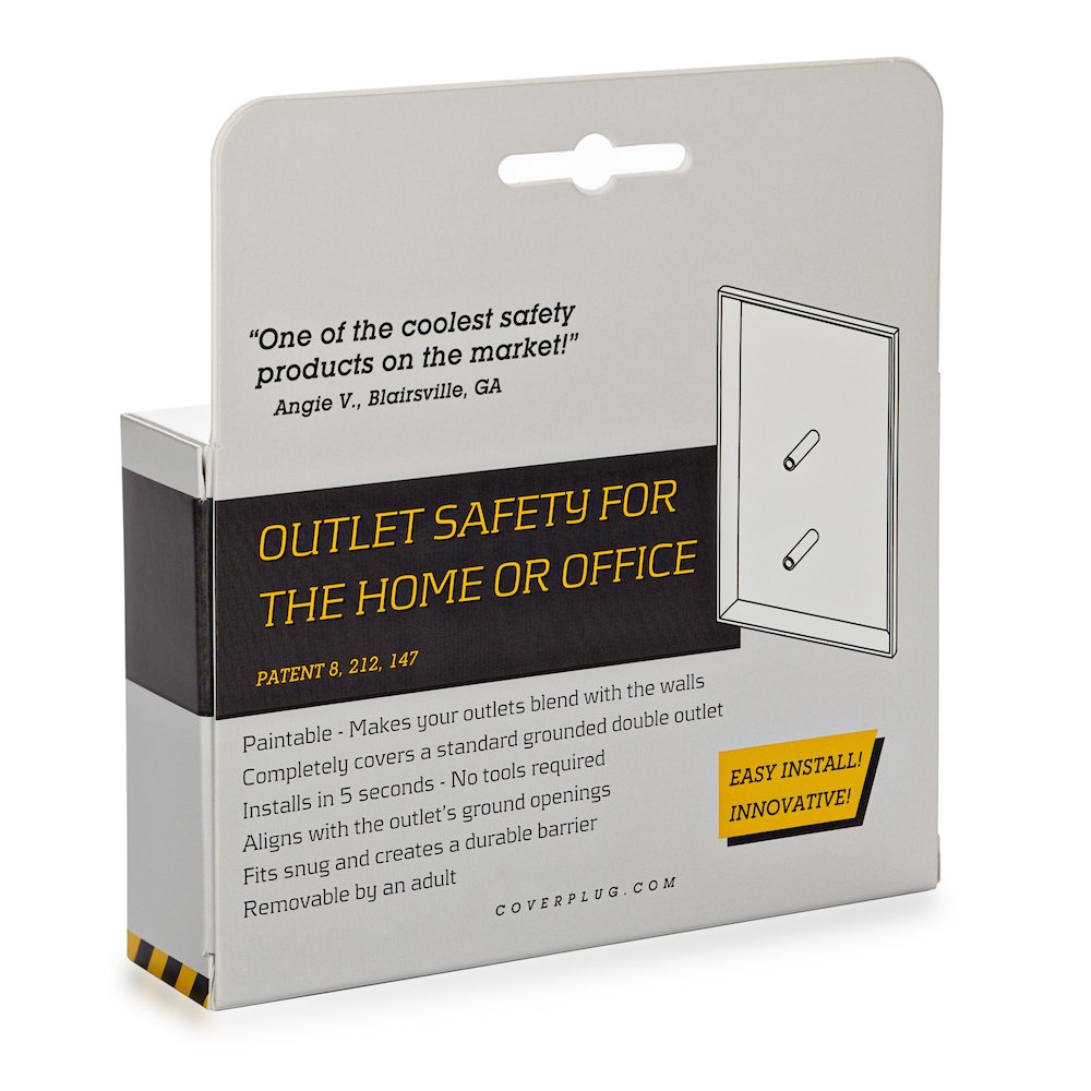 Amazon.com : The COVERPLUG 2 Pack Paintable Electrical Outlet Cover : Baby