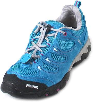 Meindl - Zapatillas de Running de Cuero para niña Turquesa Türkis (Hellblau/Magenta): Amazon.es: Zapatos y complementos
