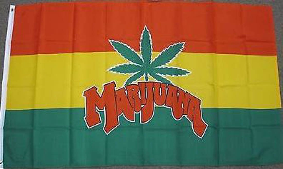 3'X5' Marijuana Leaf Flag Pot Weed Grass Flags WhiteCasting