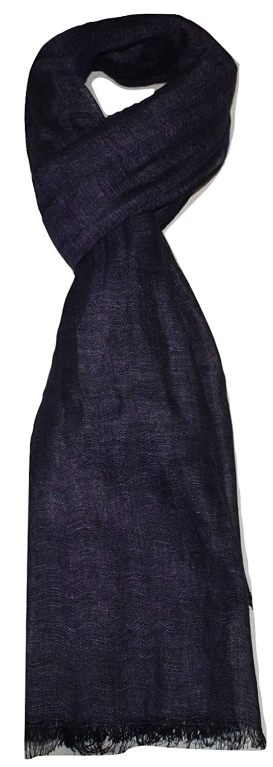 Airy All Weather Linen Scarf. Two Tone Melange Breathable 100/% Pure Linen Scarf Large