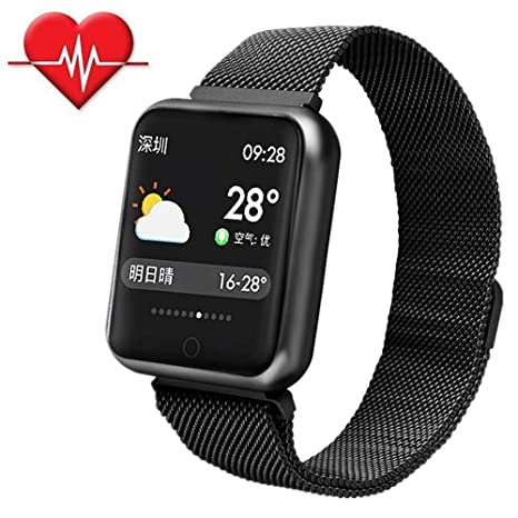 TechCode Reloj Fitness Tracker, Sport Pulsera con Monitor de Ritmo cardíaco Pulsera Inteligente Fitness Activity Tracker Bluetooth Podómetro con Sleep ...