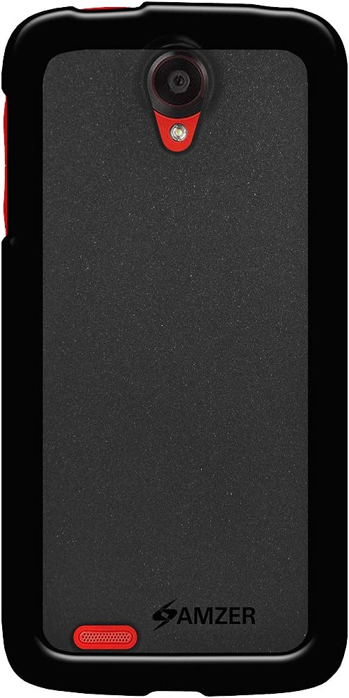 Amzer Pudding Soft Gel TPU Skin Fit Case Cover for Lenovo S820 - Retail Packaging - Black