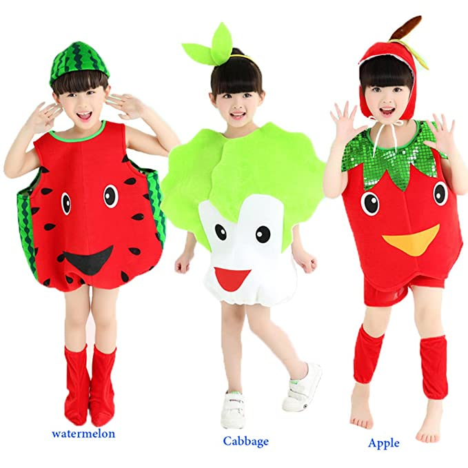 Halloween Costumes Children/Adult Vegetables Cabbage Style Clothes  Christmas Cosplay Watermelon Apple Fruits Clothes (