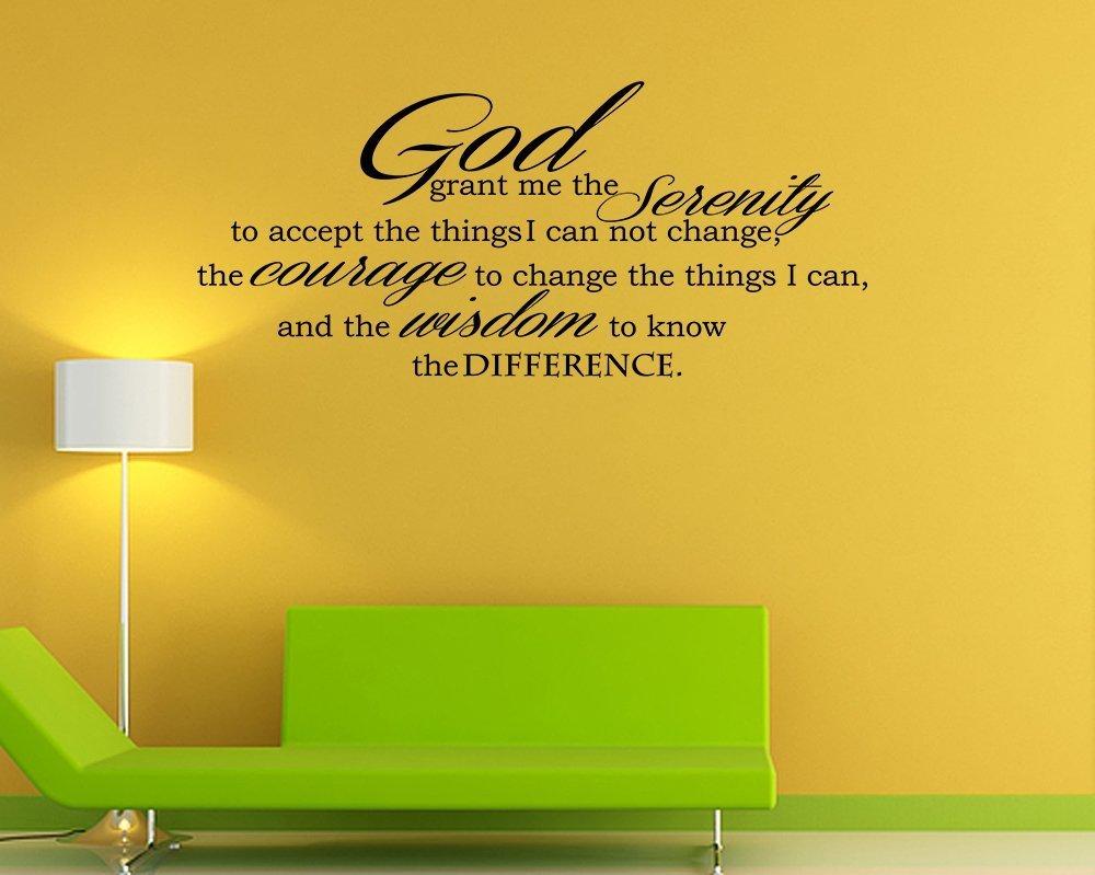 Amazon.com: God Grant Serenity Prayer Vinyl Wall Decal Quotes Wall ...