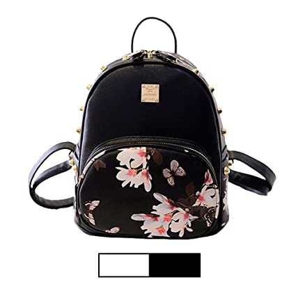 9dbd455fe37c Mini Backpack for Girls Designer Rivet PU Leather Travel Bags Womens Casual  Fashion College School Sport