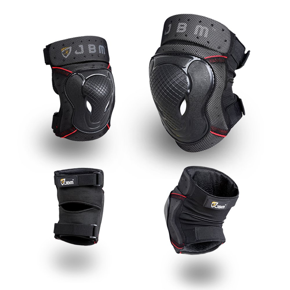 Knee Scooter For Sale >> JBM BMX Bike Knee Pads and Elbow Pads with Wrist Guards Protective Gear Set for Biking, Riding ...