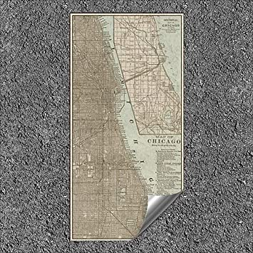 | 12x24 5-Pack Vision StudioTinted Map of Chicago Outdoor Contour Wall Decor CGSignLab