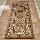 Cosy House Contemporary Runner Rugs for Indoors Hallway, Kitchen, Bathroom | Persian Living Room Home Decor | Resists Stains, Soil, Fading & Freying | Power Loomed in Turkey 2′ X 7′, Kingdom Berber