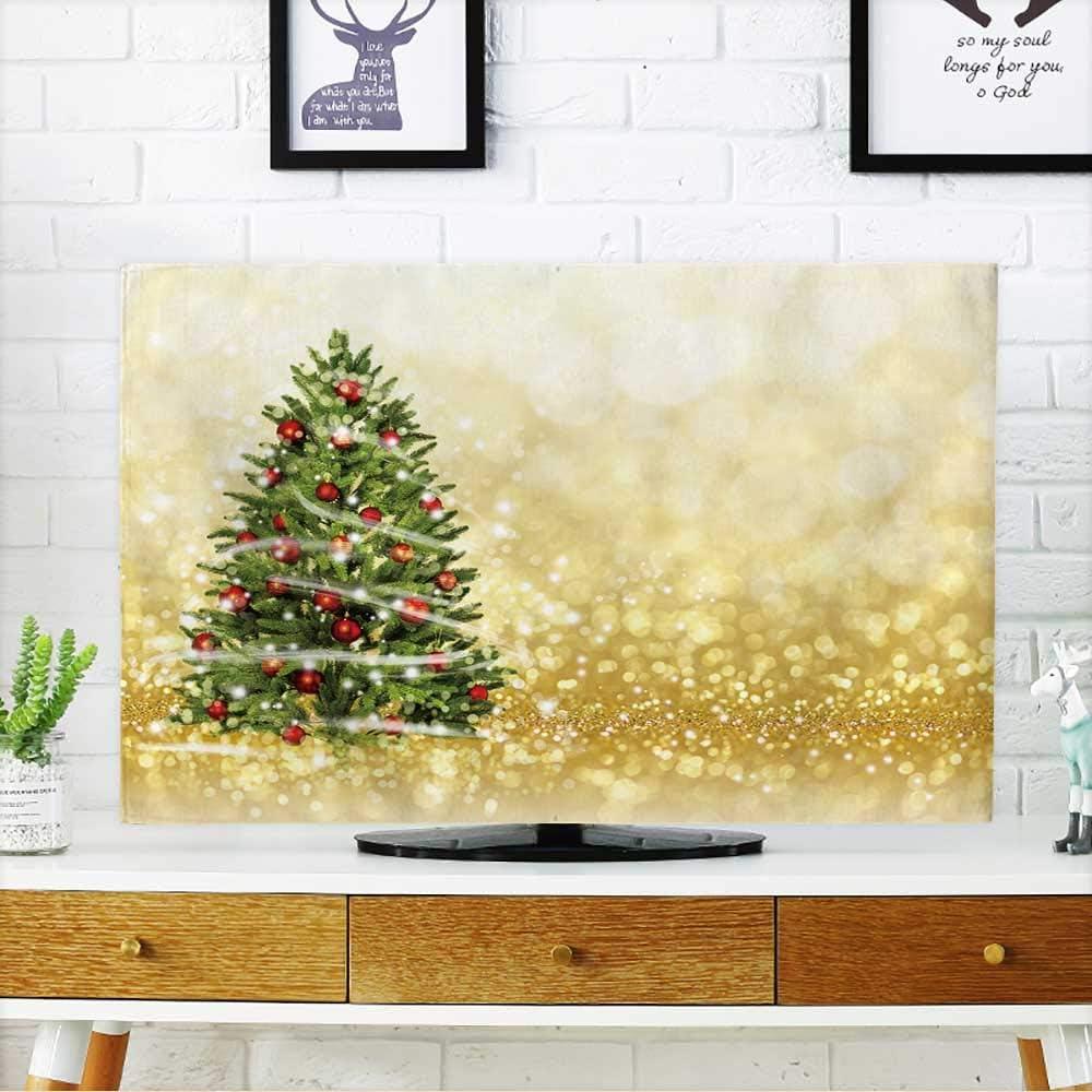 Tarjeta de Navidad y Año Premus para Proteger tu televisor con Luces de Guirnalda Festivas y Bombillas Vector para Proteger tu televisor de 48,26 x 76,2 cm/TV de 81,28 cm: Amazon.es: Hogar