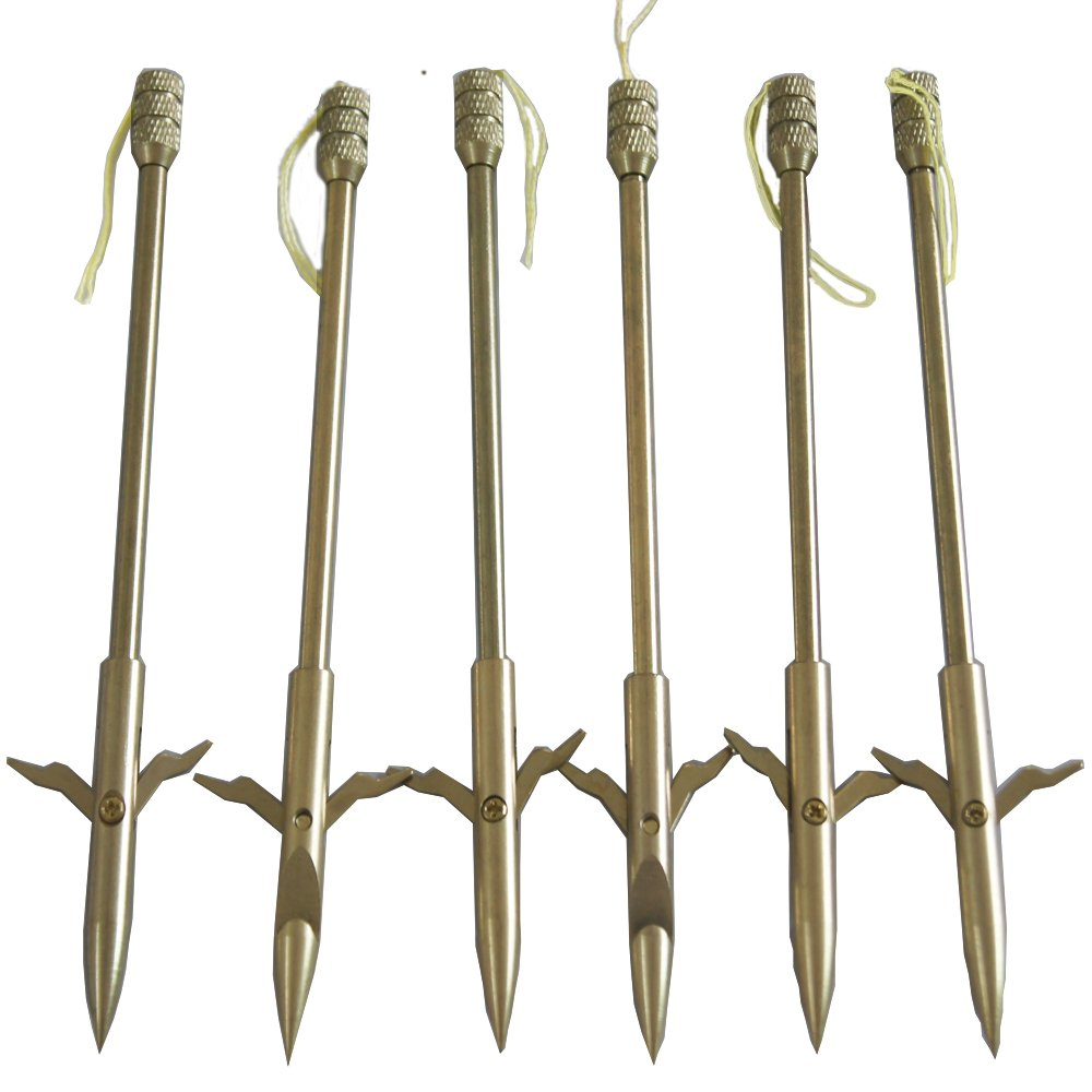 jiexi hwyp Slingshot Arrow for Fishing 6. 2' Stainless Steel Bow Fishing Arrow Pack of 6
