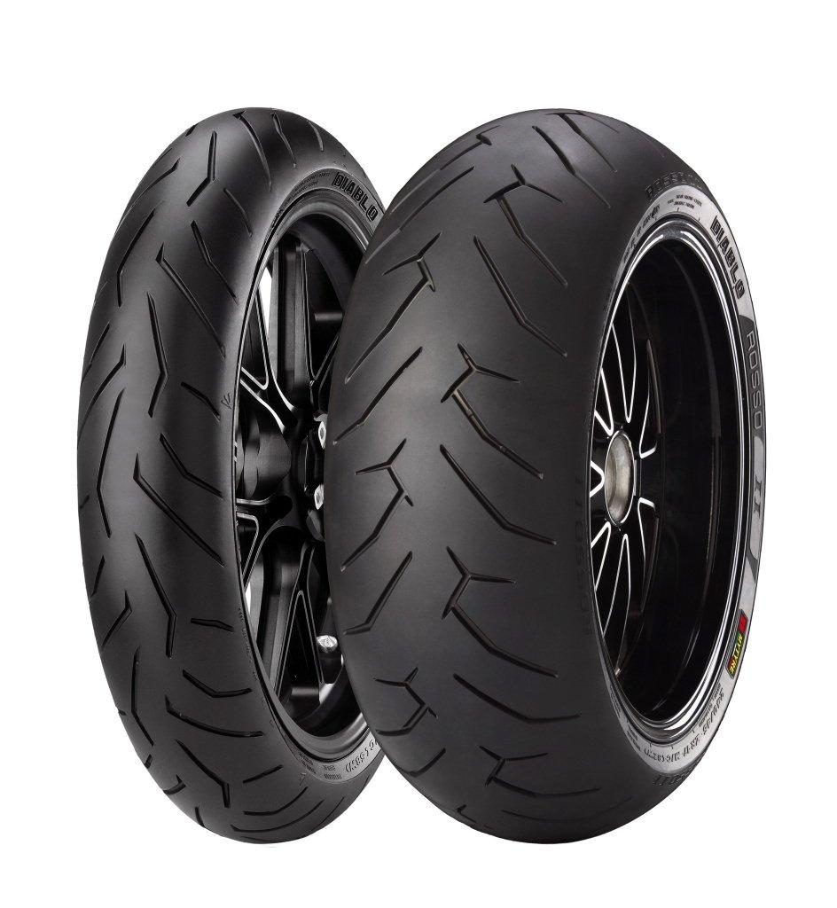 Pirelli Diablo Rosso II 120/70ZR17 Front Tire 2291900 by Pirelli (Image #1)