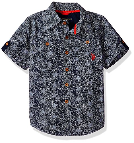 U.S. Polo Assn. Big Boys' Long Sleeve Sport Shirt, Classic Navy Soft, - Clothing Us Sports