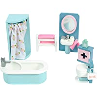 Le Toy Van - Daisylane Bathroom Premium Wooden Toys Dolls House Accessories |Playset For Doll House | Girls Dolls House…
