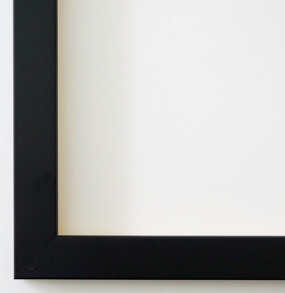 Bilderrahmen Neapel Schwarz 2,0-60 x 60 cm - LR - 500 Varianten - alle Größen - handgefertigt - Galerie-Qualität - Antik, Barock, Landhaus, Shabby, Modern - Fotorahmen Urkundenrahmen Posterrahmen