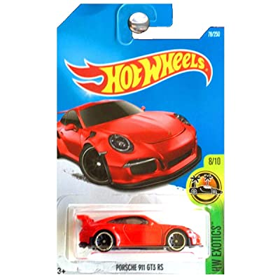 Hot Wheels Compatible Porsche 911 GT3 RS Red HW Exotics Series 1:64 Scale Collectible Die Cast Model Car: Toys & Games