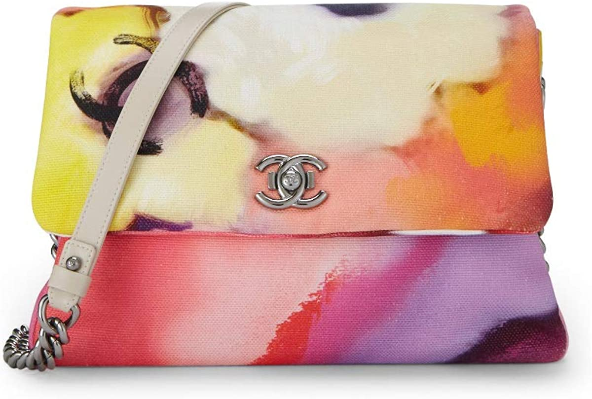 CHANEL Flower Power Canvas Shoulder Bag (Pre-Owned)