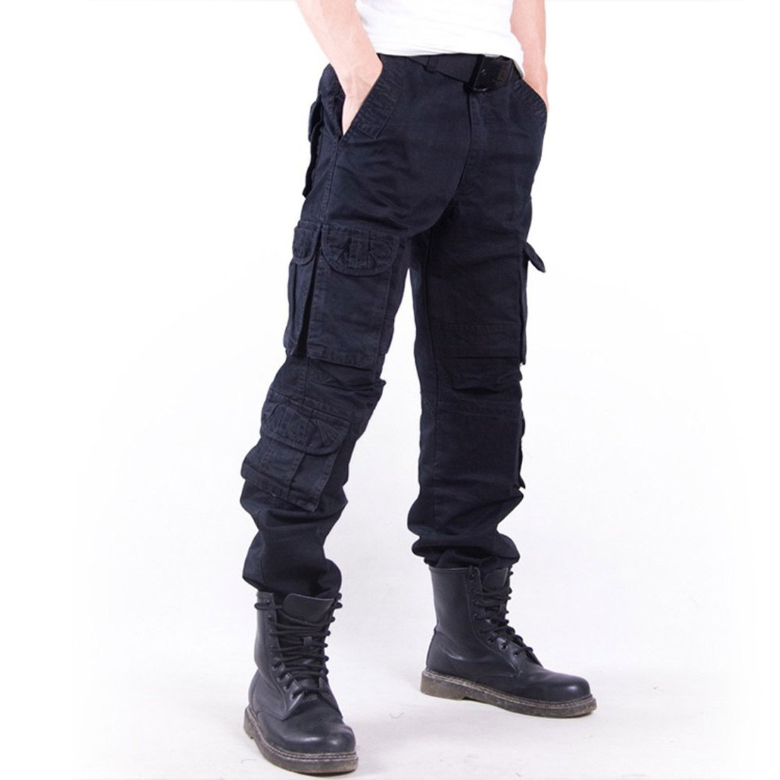 Cargo Trousers, Men's Tactical Combat Cargo Work Army Trousers Casual Military Long Workout Pants Casual Walking Breathable Sports Bottom Slacks HDH