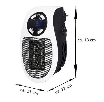 HSC Calentador portátil/Estufa del Templo/Calentador de Gas eléctrico casero para la Oficina, Dormitorio, Cocina, calefacción de la Sala de Estar,White: ...