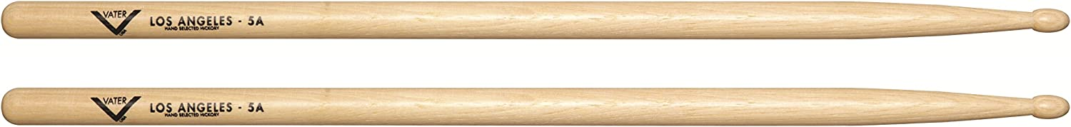B0002CZQJQ Vater VH5AW Los Angeles 5A Wood Tip Hickory Drum Sticks, Pair 61yHrXYjgZL