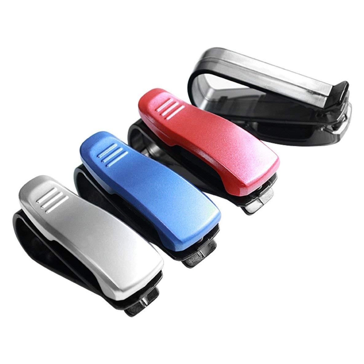 Noradtjcca Brillenhalter f/ür Auto-Visiere Multicolor Perfect Storage Organizer Einfaches Clip-On-System Ideal zum Halten von Karten