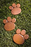 Bear Paw Stepping Stones - set of 3 Garden Stepping Stones