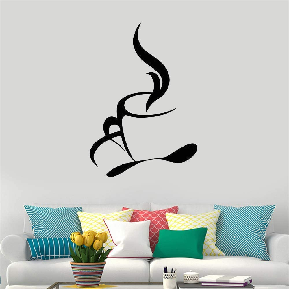 Kitchen decal stickers,coffee bar sign,transfer PVC-free vinyl,wall decoration