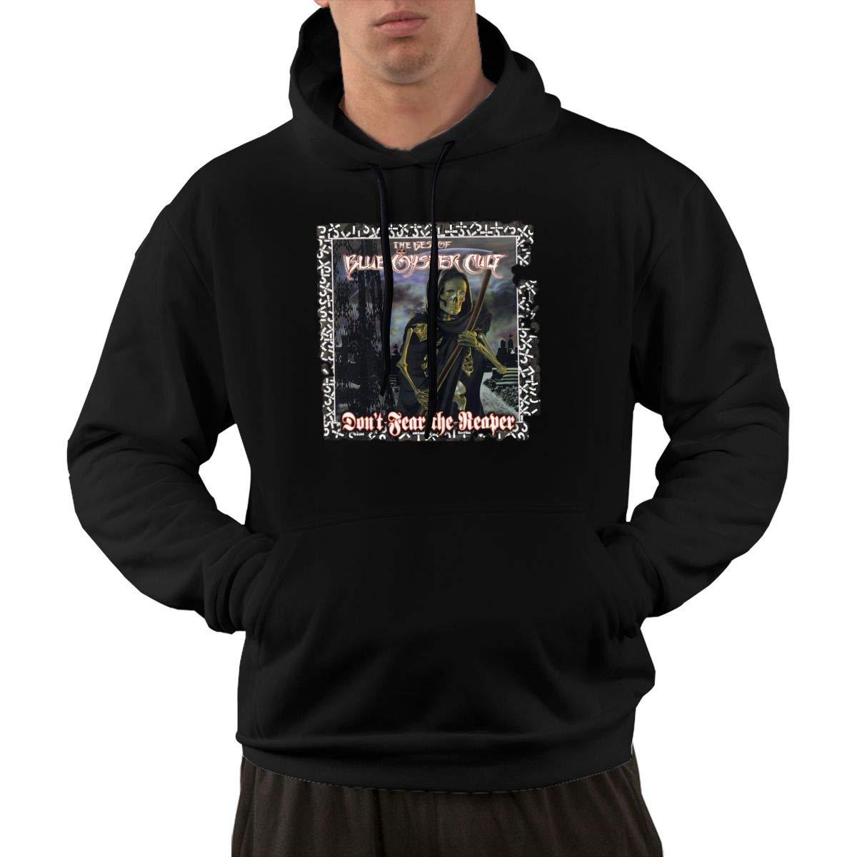 AlbertV Mens Blue Oyster Cult Dont Fear The Reaper Hoodies Hooded Sweatshirt Pocket Black