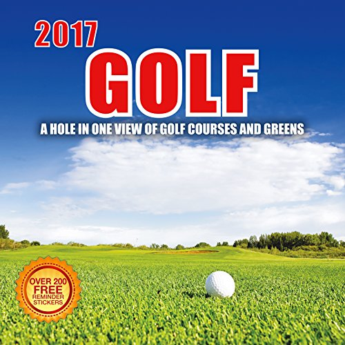 Price comparison product image 2017 Golf Calendar- 12 x 12 Wall Calendar - 210 Free Reminder Stickers