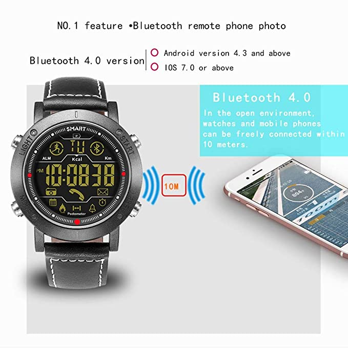 Sports Smart Watch, Samxu Digital Outdoor Sports Smartwatch for Men with Pedometer, Calorie Counter, Distance, Stopwatch, Message Notifications, IP67 ...