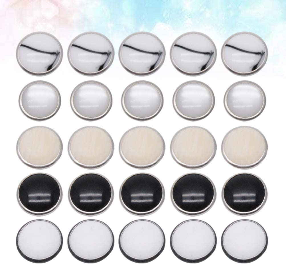 Supvox 50Pcs Snap Fastener Kit Classique Strass Strong Ring Snaps pour Western Shirt V/êtements Popper Studs