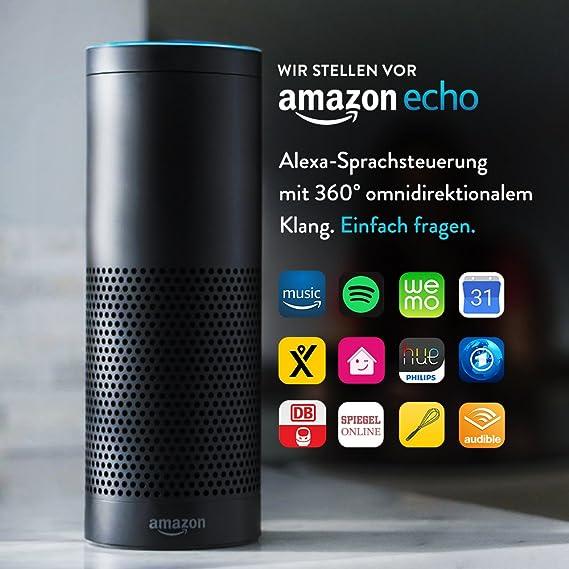 Amazon Echo, Zertifiziert und generalüberholt, Schwarz (Vorherige Generation)