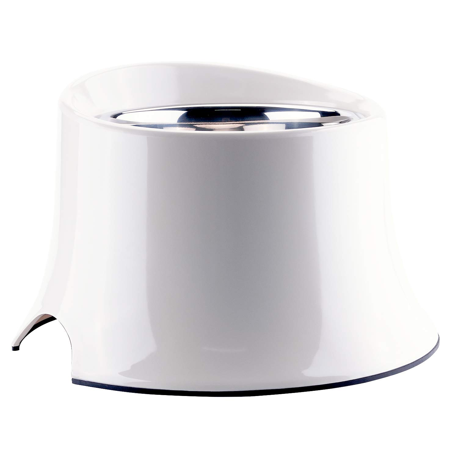 Super Design Elevated Dog Bowl Raised Dog Feeder for Food and Water 4 Cup Cream White