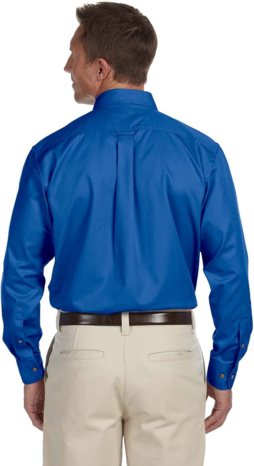 Easy Blend Long-Sleeve Twill Shirt with Stain-Release M500