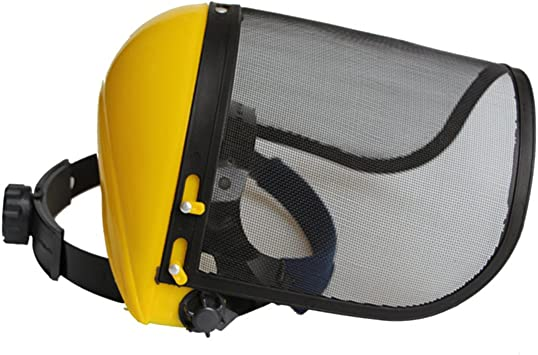 Yardwe Casco Protector Mesh Safety Face Shield para Jardinería