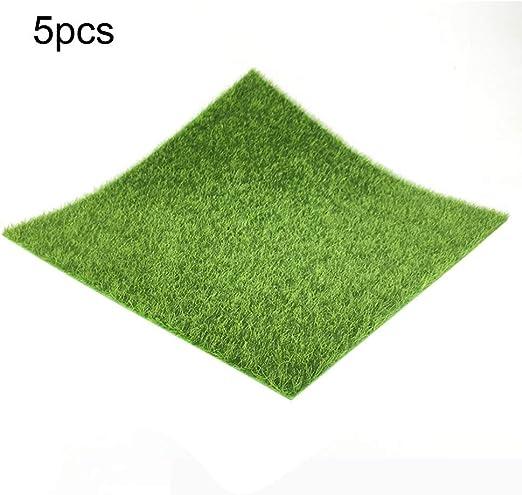 Césped del jardín Verde artificial Céspedes alfombras de césped falso césped de jardín de musgo de