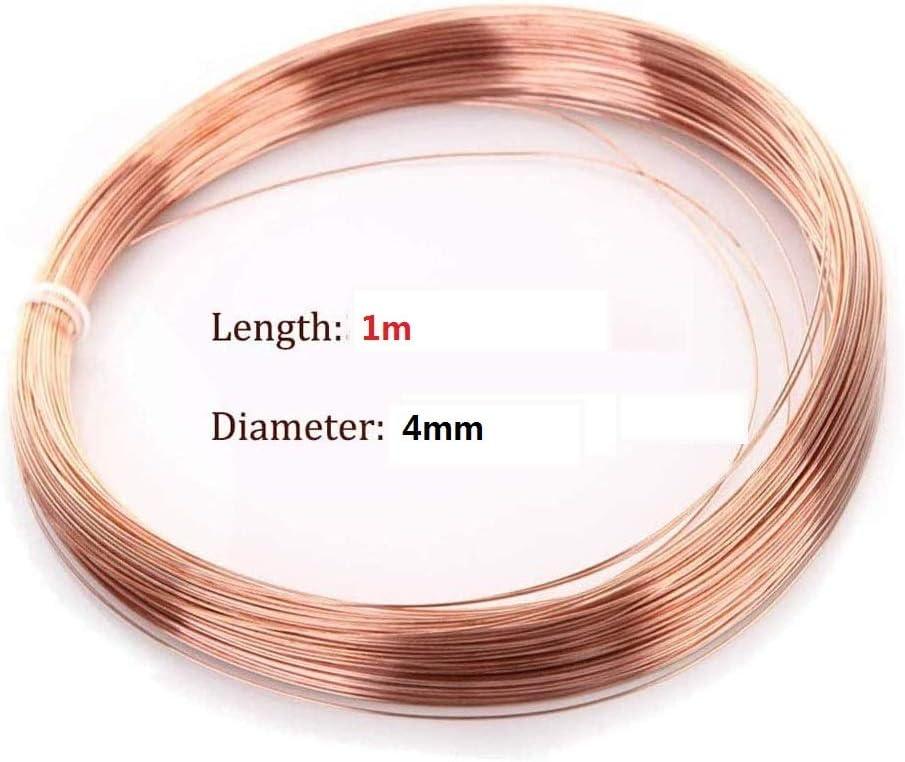 GOONSDS Copper Wire Rolls Diameter 4mm Long 1m