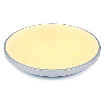 VINGO® 60W LED luz de Techo Plafón Blanco Cálido Lámpara de la ...