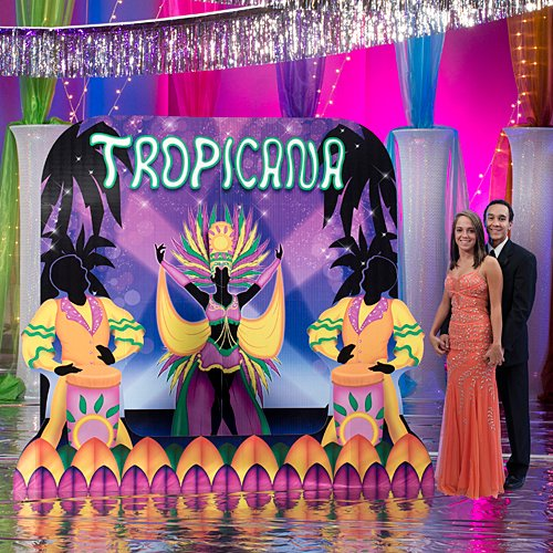 7 ft. 6 in. Havana Night Club Bandstand Standup Photo Booth Prop Background Backdrop Party Decoration Decor Scene Setter Cardboard Cutout