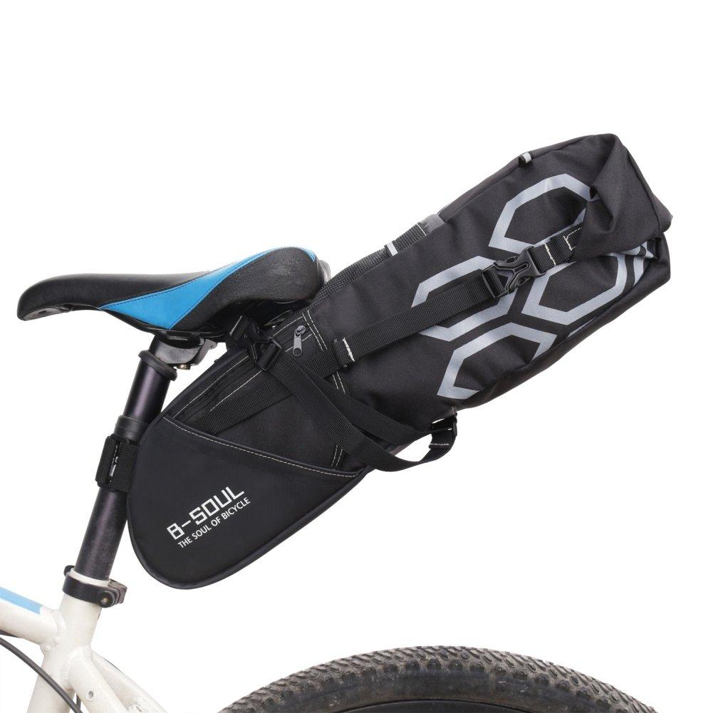 Peyan Bike Saddle Bag, Waterproof Bike Bag Under Seat Bag, Mountain Road MTB Bicycle Bike Seat Tail Bag (12L)