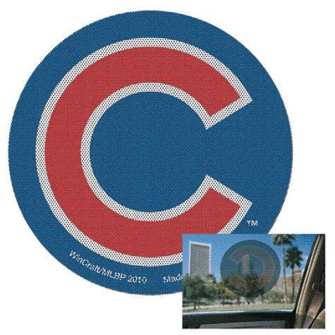 WinCraft MLB Chicago Cubs Perforated Vinyl Decal, 12