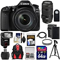 Canon EOS 80D Wi-Fi Digital SLR Camera & 18-135mm IS USM with 70-300mm Lens + 64GB Card + Battery + Charger + Backpack + Filters + Tripod + Flash Kit At A Glance Review Image